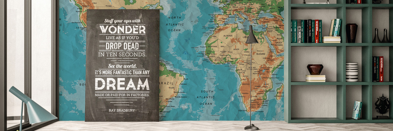 Collection de papiers peints «XXL World Trip»