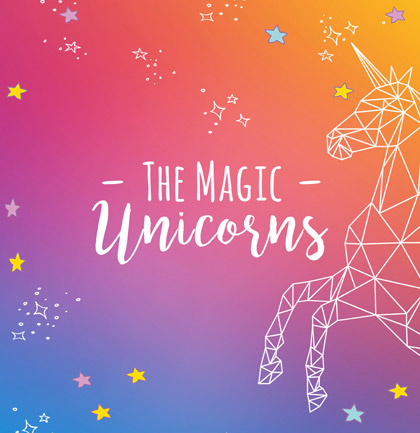 Collection de papiers peints «The Magic Unicorns»