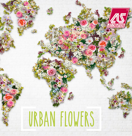 Collection de papiers peints «Urban Flowers»